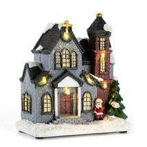 Christmas Scene Village Houses Town Warm White Led Light Holiday Gifts D... - $39.97