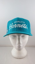 Charlotte Hornets Wool Script Hat (VTG) - Teal Sports Specialties - Snap... - $95.00