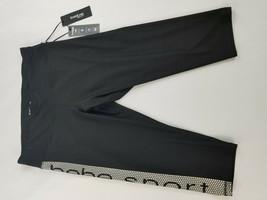 new BEBE Sport women legging wicking 4 way stretch flatlock black 1X MSR... - $29.69