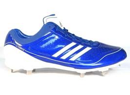 Adidas AdiZero Diamond King Blue Low Metal Baseball Softball Cleats Men's NEW - $52.49