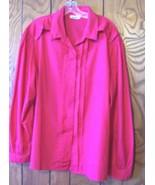 Rhoda Lee Magenta Pink Blouse Career Business Top  Sz 2X - $14.24