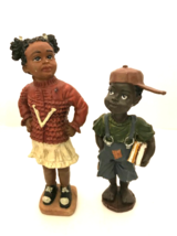 "Back to School Older Sister Little Brother Figurines Black Americana 6"" ... - $19.80"