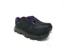 Timberland PRO Women's Powertrain Alloy-Toe Work Shoe A16TF Black/Purple... - £40.78 GBP