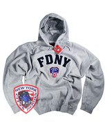 FDNY Shirt Hoodie Sweatshirt Officially Licensed by The New York City Fi... - $39.95