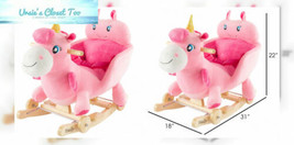Happy Trails 2-in-1 Classic Rocking Horse Plush Animal – Unicorn with Wo... - $134.33