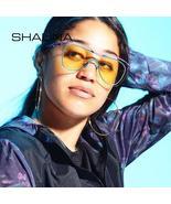 SHAUNA Oversize Women Double Lens Sunglasses Fashion Men Purple Green Co... - $77.28