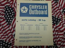 Chrysler Outboard 20 HP Parts Catalog 202 203 204 HG - $19.79