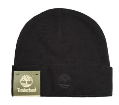 TIMBERLAND Acrylic Cuffed Beanie Adult One Size Fits Most Black Cap Winter - $15.99