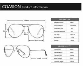 COASION Classic Polarized Aviator Mirrored Sunglasses with UV400 Protection image 4