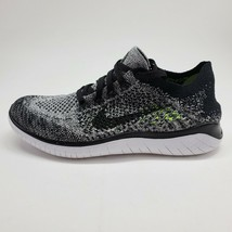 Nike Womens Free RN Flyknit 2018 Sz 6.5 Oreo Black White Running Shoe 94... - $107.91