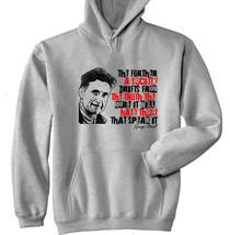 George Orwell - New Cotton Grey Hoodie - $39.70