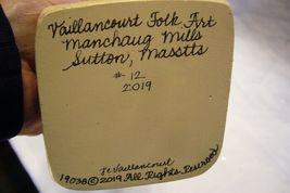 Vaillancourt Folk Art , Large White  Coat Father Christmas signed by Judi image 6
