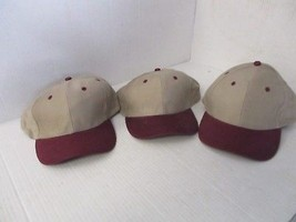 KHAKI CAPS/HATS-DARK RED BILL/ACCENTS-SOFT-BUCKLE-ONE EACH  [3040 - €3,51 EUR