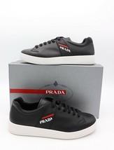 NIB Prada Mens Black Leather Logo Low-Top Sneakers 11.5 44.5 New - $344.99