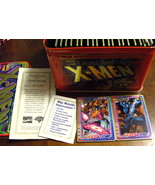Ultra RARE Official X-Men Metallic Impressions Card Set w Tin + BONUS XM... - $159.99