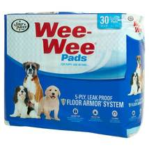 """Four Paws Wee-Wee Pads 30 pack White 22"""" x 23"""" x 0.1"""" - $11.49"""