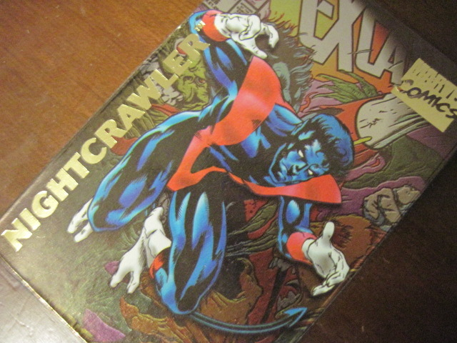 ULTRA RARE Marvel Nightcrawler Gold Foil Shiny Comic Magnet! Makes a Great Gift!