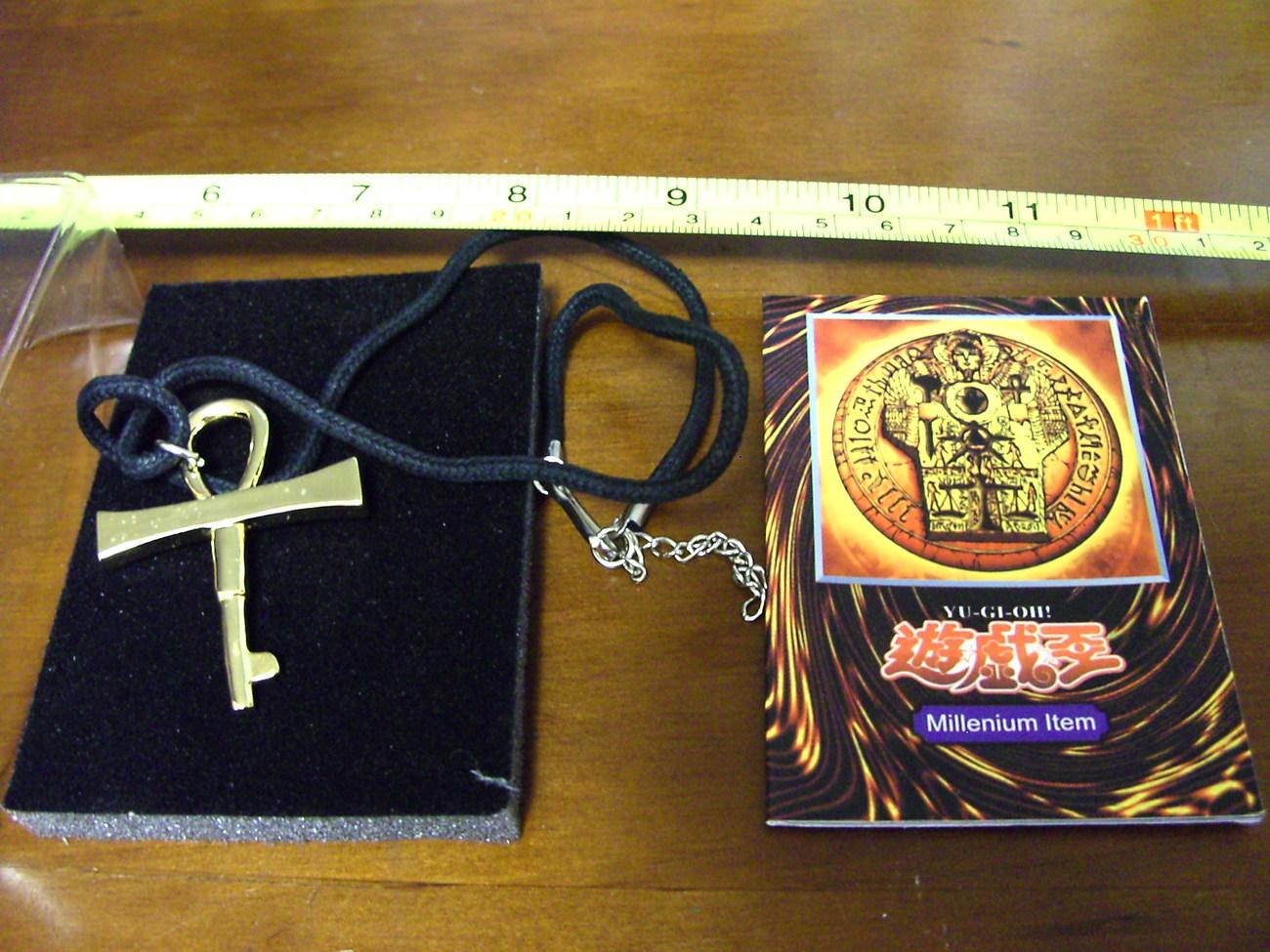 RARE Japanese Yu-Gi-Oh! Cosplay Gold Millennium Key Necklace! LAST ONE LEFT!