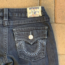 True Religion Women's Straight Dark Wash Denim Flap Pocket Jeans  Size 28 - $28.71
