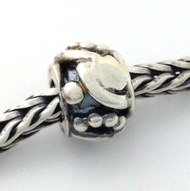 Authentic Trollbeads Art Deco Sterling Silver Bead Charm 11222, New - $27.83