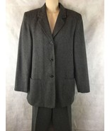 Worthington Ladies Lined Wool Gray Pants Suit Size 8 Pants And 3 Button ... - $31.63