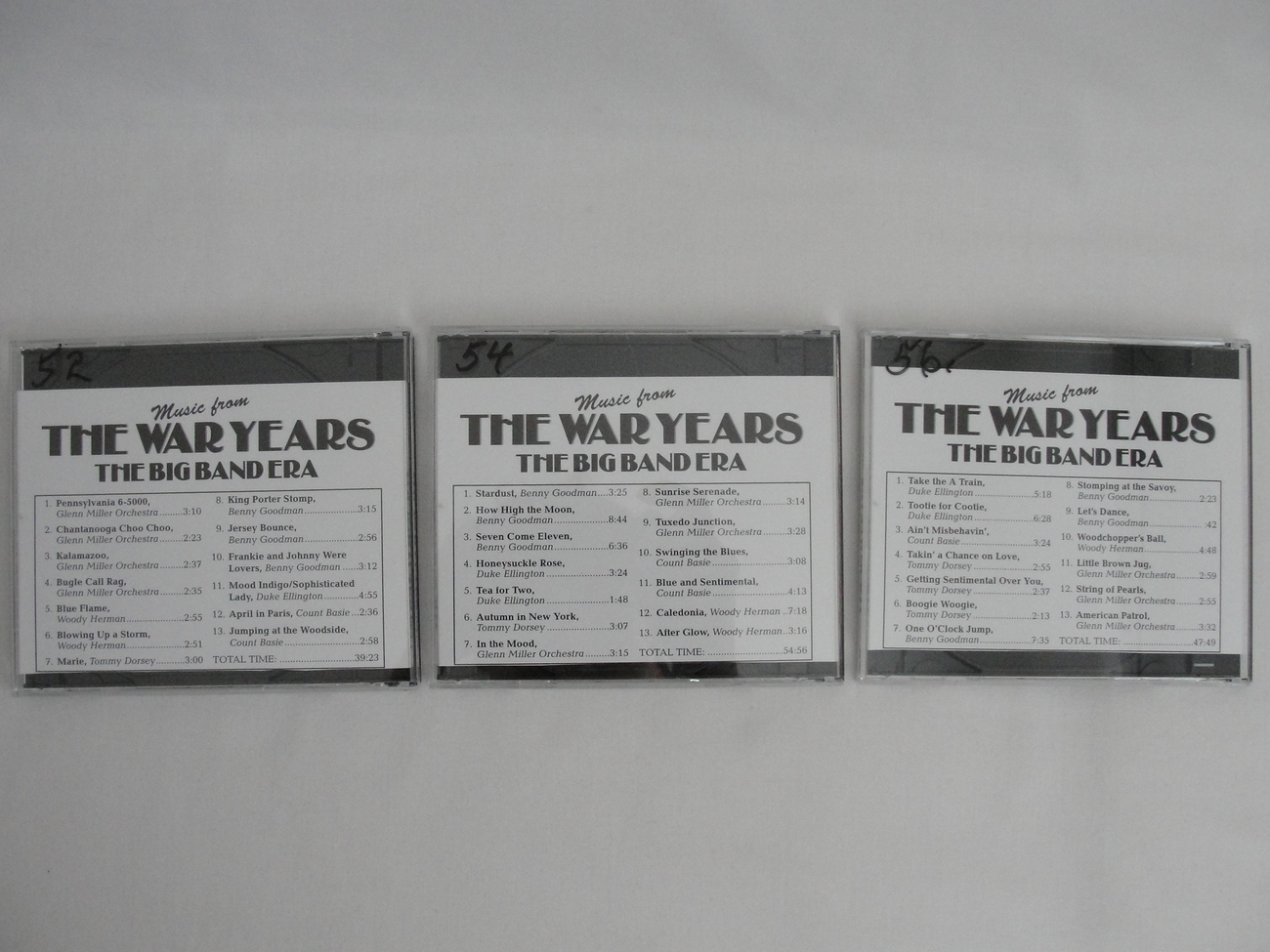 CD Music from The War Years The Big Band Era 3 CD Box Set 1996