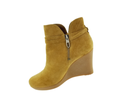 Ugg Brown Alexandria Wedge Zip Up Ankle Boot S/N 1006734 Size 8.5 - $66.17