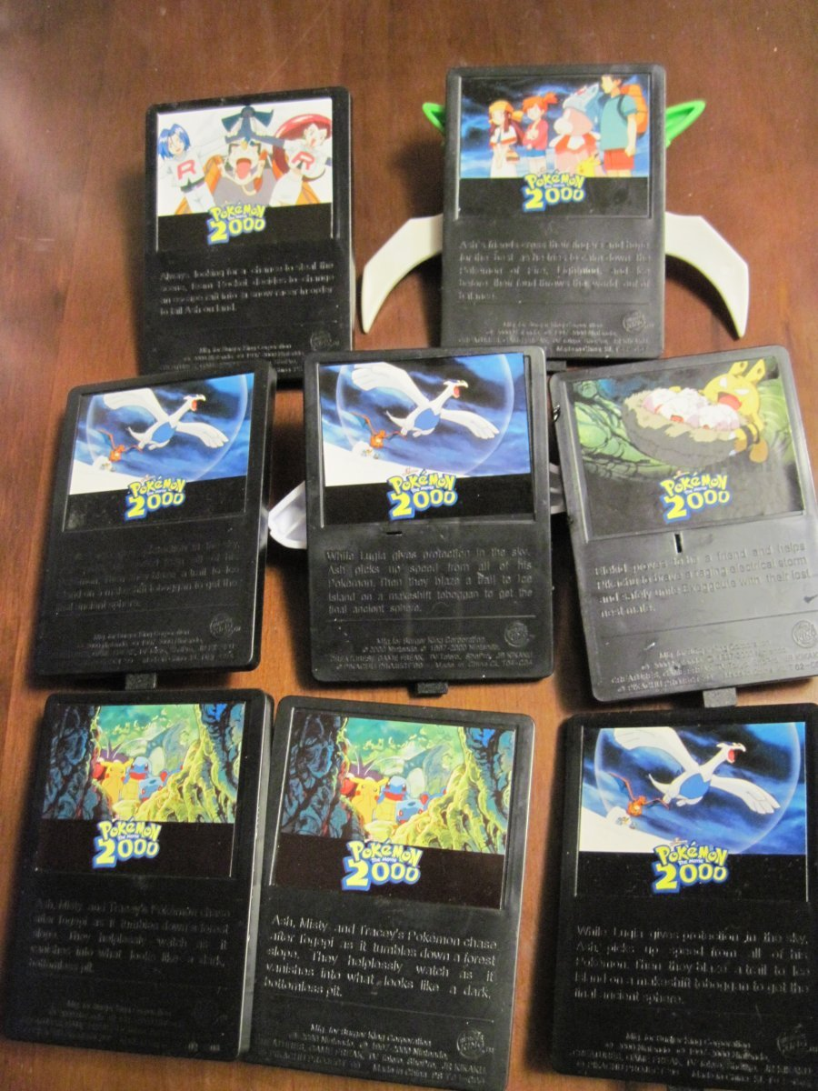 Burger King Pokemon Movie 2000 Action 3D Cards Open Lot 8pc! Lugia Still works!!