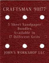 CRAFTSMAN 911177 - 1/4 Sheet - 17 Grits - No-Slip - 5 Sandpaper Bulk Bundles - $7.14