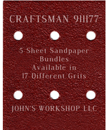 CRAFTSMAN 911177 - 1/4 Sheet - 17 Grits - No-Slip - 5 Sandpaper Bulk Bun... - $7.14