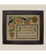 Halloween Is In The Air cross stitch chart All Through Night - $7.20