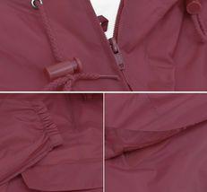 Men's Water Resistant Windbreaker Hooded Half Zip Pullover Rain Jacket image 10