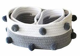 Black Temptation Set of 3 Cotton Rope Woven Storage Basket Household Sto... - £28.45 GBP