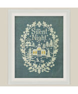 Silent Night holiday cross stitch chart All Through The Night - $7.20