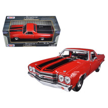 1970 Chevrolet El Camino SS 396 Red 1/24 Diecast Model Car by Motormax 7... - $29.43