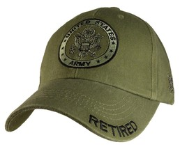 US ARMY RETIRED - U.S. Army with Army Seal Officially Licensed Baseball Cap Hat - $23.95