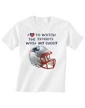 New England  Patriots Toddler T-Shirt Love To Watch With Daddy Tshirt - $15.00