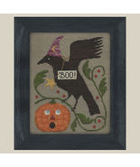 Boo fall halloween cross stitch chart All Through The Night - $7.20