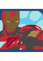 Iron Man Crochet Graph Afghan Pattern - $5.00
