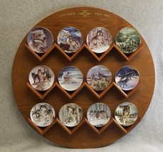 Al Agnew Hamilton Collection Year of the Wolf 12 Mini Plates 1998 COA & ... - $84.11