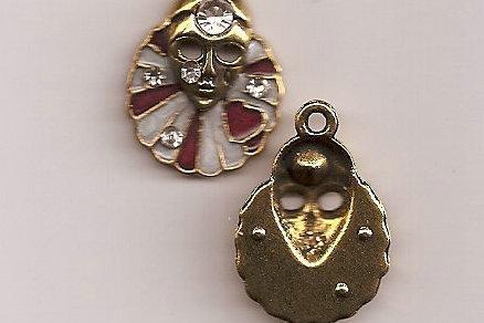 Mardi Gras Tibetan Gold Plated Pendant