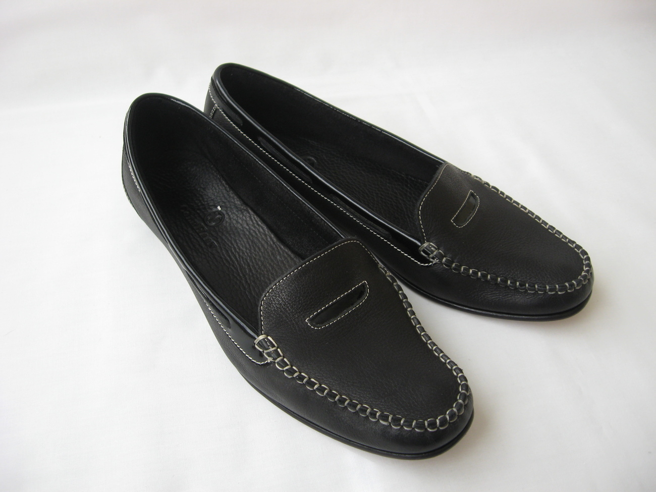 cole haan leather loafers slip on shoes size 8 black
