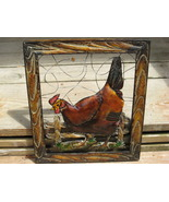 Country Farm Rooster Chicken Wall Plaque Metal Art Picture Ranch Bird - $5.60
