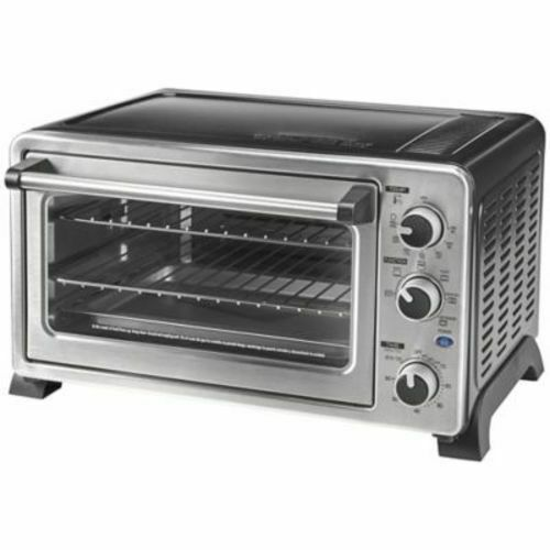 Primary image for Chefs Mark 6-Slice Convection Toaster Oven Countertop with Rotisserie Silver