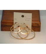 New 2 PR A New Day Gold Tone Hoop Earrings - $4.95