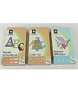 Cricut Cartridges Beyond Birthdays Cuttin Up ABC Plantin Schoolbook Diecut  - $13.86+
