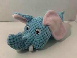 Multipet International small blue elephant plush stuffed dog squeaker toy - £4.19 GBP