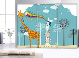 3D Giraffe 083822 Fototapeten Wandbild Fototapete BildTapete Familie DE - $52.21+