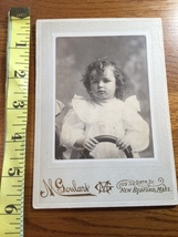 "Cabinet Card ""Living Doll"" Cute Curly Haired Young Girl Mass. Studio 188... - $10.00"