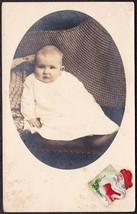 Louis Ralph Warner RPPC Photo Postcard of Baby, ca. Pre-1920 - $17.50